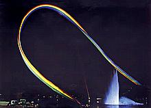 Otto Piene,  Olympia-Regenbogen , Signed and dated