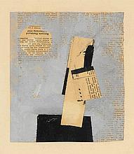 Hermann Glöckner, Untitled Gouache on collaged new