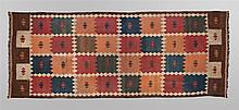 Uzbek, Labidjar Kilim Kelleh with double arrow mot