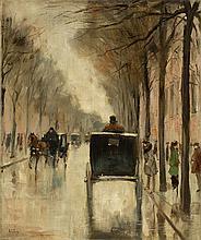 "Lesser Ury, ""Berliner Straßenszene im Spätherbst"","