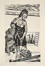 "Max Beckmann, ""Badekabine"", Signed, dated, inscrib"