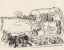 "Max Beckmann, ""Der Morgen"", Signed, Drypoint on wo"