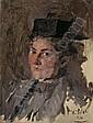 Wilhelm Leibl ITALIENISCHER KLOSTERGARTEN Signed
