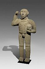 Standing warrior with trophy head (Period VI)