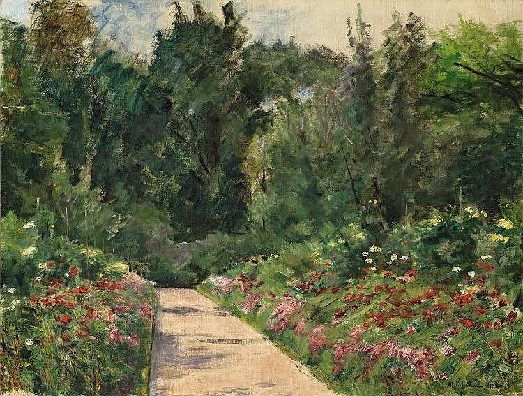 """Liebermann, Max 1847 - 1935 """"Der Nutzgarten in Wannsee nach Westen"""