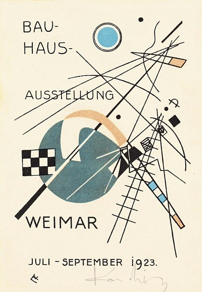 """Kandinsky, Wassily 1866 - 1944 """"Postkarte für die Bauhaus-Ausstellung"""