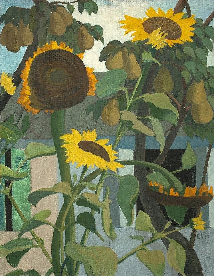 """Heckel, Erich 1883 - 1970 """"Sonnenblumen und Birnen"""