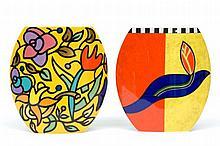 Jan van der Vaart (1931-2000) Two white porcelain