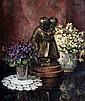 Emil Englerth (1885-) Stilleven met bloemen en een
