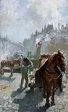 August Willem van Voorden (1881-1921) Sleperspaard