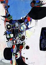 Gérard Grassere (1915-1994) Abstracte compositie.