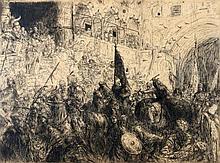 Marius Bauer (1867-1932) 'Een feestelijke intocht'