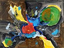 Joop Kropff (1892-1979) Abstracte compositie. Gesi