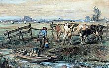August Willem van Voorden (1881-1921) Een boer bij