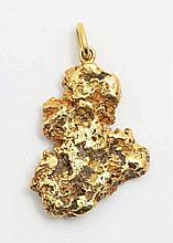 Gold nugget pendant.