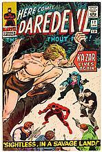 Daredevil #12  (Marvel, 1966).Sightless, in a Savage Land. Jack Kirby (layouts); John Romita