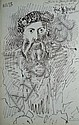 PABLO PICASSO 'Hans Holbein' Lithograph Signed in