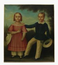 American school late 18th c. oil on canvas