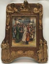 ornately framed Jewish plaque