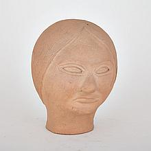 Attr: PHILLIP HAKULUK (1916-D), HEAD, ceramic, 9