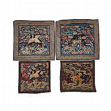 Pair of Silk Rank Badges, Circa 1900, 14.4