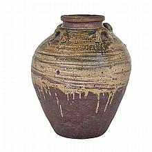 Large Brown Glazed Storage Jar, Tang Dynasty (618-907), height 19.3
