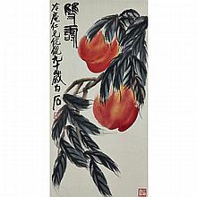 After Qi Baishi (1864-1957), PEACHES, Image 26.8
