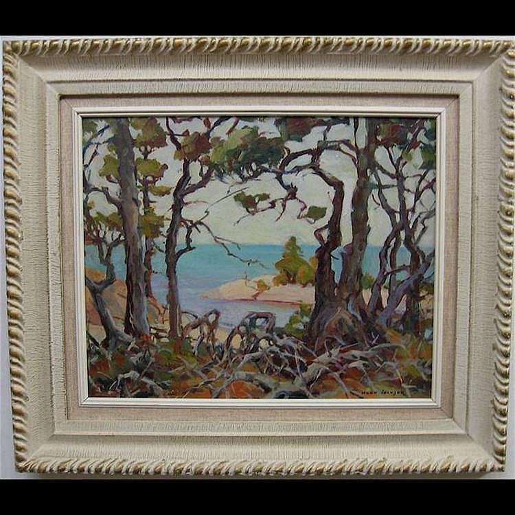 ERNA NOOK JACKSON (CANADIAN, 1886-?) BEACH THROUGH