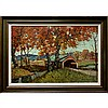 BRUCE MITCHELL (CANADIAN, 1912-1995), THE COVERED BRIDGE, OIL ON CANVAS; SIGNED LOWER RIGHT, 24