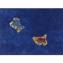 GENERAL IDEA, URSA MAJOR AND TAURUS: PAVILLION FRAGMENTS FROM THE STARRY VAULT, colour serigraph, sight 22.75 ins x 30.5 ins; 57.8 cms x 77.5 cms