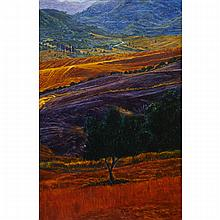 PETER KRAUSZ, VESPERALES NO.17, secco (egg tempera and alkyd) on panel, 30 ins x 19.75 ins; 76.2 cms x 50.2 cms