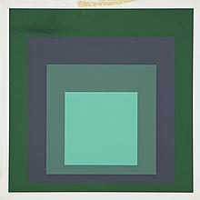 Joseph Albers (1888-1976), CHRYSOPROSE, Colour screenprint; signed, titled, numbered 68/120 and dated '65 in pencil to margin. Unframed., Sheet 12