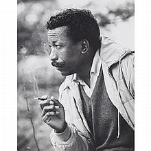 Alfred Eisenstaedt (1898-1995), PORTRAIT OF GORDON PARKS, Gelatin silver print; signed and titled in pencil, with credit stamp verso. Life Magazine archives stamp dated 1-14-63. Matted and unframed., 13