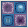 Victor Vasarely (1906- 1997), DIORRE (FROM JALONS), 1986, Colour silkscreen; signed and numbered 21/250 in pencil to margin. Published by Galerie Lahumiere.  Printed by Atelier Arcay, Paris., Image 25.4