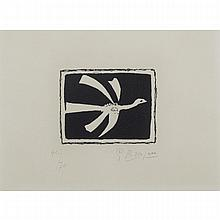 Georges Braque (1882-1963), FROM AOUT (1958), PLATE V [VALLIER, 135], Colour aquatint; signed and numbered 40/70 in pencil to margin. Published by Louis Broder. Printed by Crommelynck and Dutrou., Image 4.1