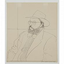 David Hockney (1937- ), HENRY GELDZAHLER WITH HAT, 1976 [SCOTTISH ARTS COUNCIL, 180], Lithograph; signed, dated 76 and numbered