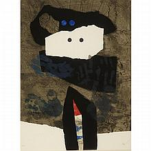 Antoni Clave (1913-2005), LE MASQUE BLANC, Colour relief print; circa 1974; signed and numbered 19/75 in pencil to margin. Certificate of authenticity as per gallery label verso., 30