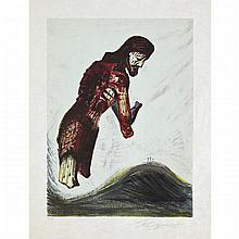 David Alfaro Siqueiros (1896-1974), CHRISTO AMPUTADO (1968) (FROM A PORTFOLIO OF 10 ORIGINAL LITHOGRAPHS), Colour lithograph on japon paper; signed and numbered III/XXV. Printed by Atelier Mourlot, Paris. Unframed., Sheet 21
