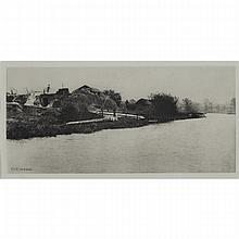 Peter Henry Emerson (1856-1936), BRICKFIELD ON THE RIVER BURE, NORFOLK, 1888 (PL. 10 FROM PICTURES OF EAST ANGLIAN LIFE), Photogravure.  Printed in an edition of 275., Image 5.2