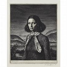Gerald Leslie Brockhurst (1890-1978), DORETTE, (SEPT) 1932, Etching on Whatman watermarked paper dated