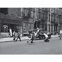 Arthur Leipzig (1918- ), STICKBALL, NEW YORK, 1950, Gelatin silver print; artist stamp verso. A later imrpession., 11