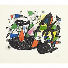 Joan Miro (1893-1983), DOROTHEA TANNING, 1974 [MOURLOT 929], Colour lithograph; signed and numbered HC in pencil, aside from the edition of 60. Published by XXe Siecle, Paris., 12.5