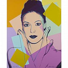 Andy Warhol (1928-1987), KAREN KAIN, 1980 [F. & S., II.236], Colour silkscreen with diamond dust; signed in black crayon by Andy Warhol and signed by Karen Kain in pencil, numbered 40/200 in pencil to bottom edge, Sheet 40