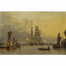 John Ward of Hull (1798-1849), THE WILLIAM LEE ARRIVING AT HULL, Oil on canvas; titled to label verso, inscribed in pen and ink on an old partial label: