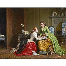 William Bromley (1835-1888), CONSOLING A FRIEND, Oil on canvas; signed and dated 1867 lower left, 28
