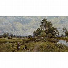 Alfred Augustus Glendening Snr. (1840-1910), NEAR RUDHAM, NORFOLK, Oil on canvas; signed and dated 1902 lower right, titled to the top selvage verso, 12