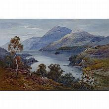 Alfred Fontville de Breanski (1877-1955), ABOVE LOCH EARN, N.B., Oil on canvas; signed lower left, signed and titled verso, 24