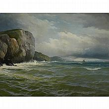 David James (1853-1904), ON THE CORNISH COAST, Oil on canvas; signed and dated 1882 lower right, 34