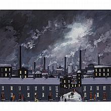 Geoffrey W. Birks (1929-1993), IT GETS DARK QUICK NOW, Oil on masonite; signed lower right, 20