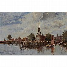 Edward Seago (1910-1974), THE WATCHTOWER AT HOORN, HOLLAND, Oil on canvas; signed lower left, titled to the stretcher, 20